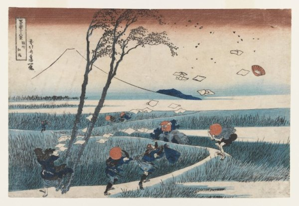 jeff_wall_Brooklyn_Museum_-_Yejiri_Station_Province_of_Suruga_-_Katsushika_Hokusai