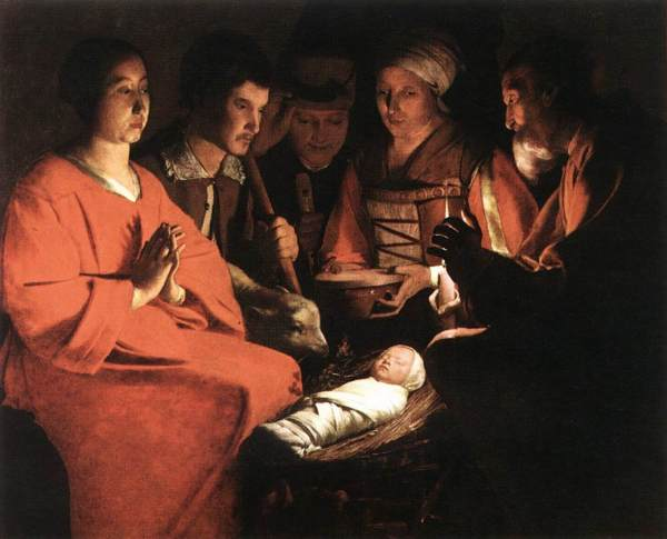 pintura-Georges-de-La-Tour-Adoration-of-the-Shepherds-1644