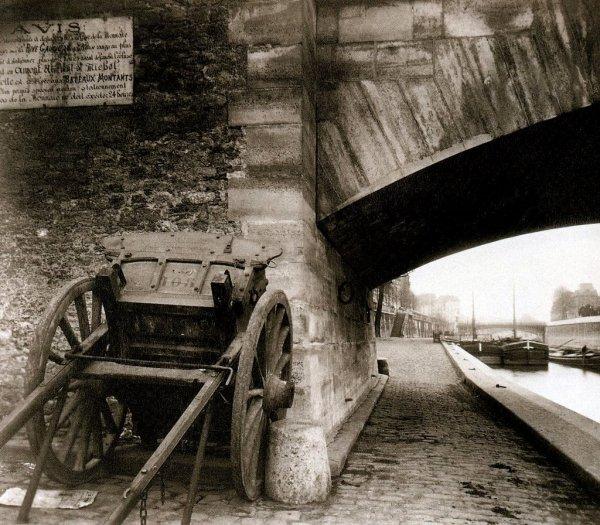 Quai de la Tournelle (5 arr), 1911 .- EUGÈNE ATGET